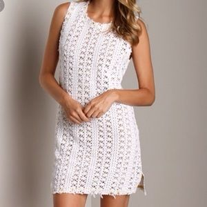 Free People White Crochet Cover Up Dress XS